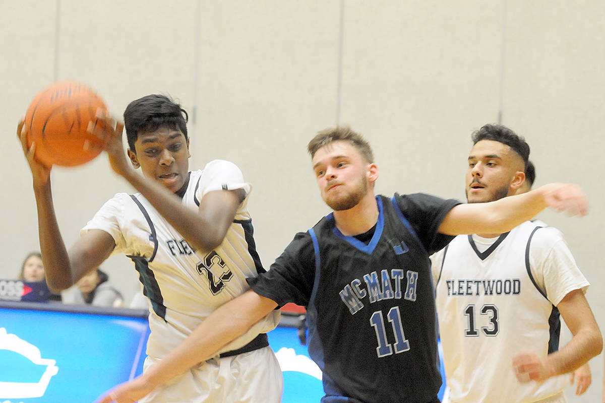 Game one of the Tsumura Invitational Basketball tournament at the Langley Events Centre on Wednesday, Dec. 4 saw Fleetwood Park Dragons from Surrey play the R.A. McMath Wildcats from Richmond.(Dan Ferguson/Langley Advance Times)