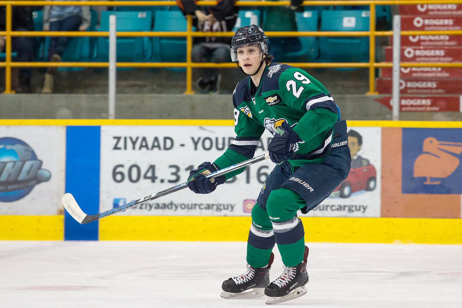 Holden Katzalay has left the BCHL's Surrey Eagles and joined the Vancouver Giants of the Western Hockey League. (Garrett James photo)