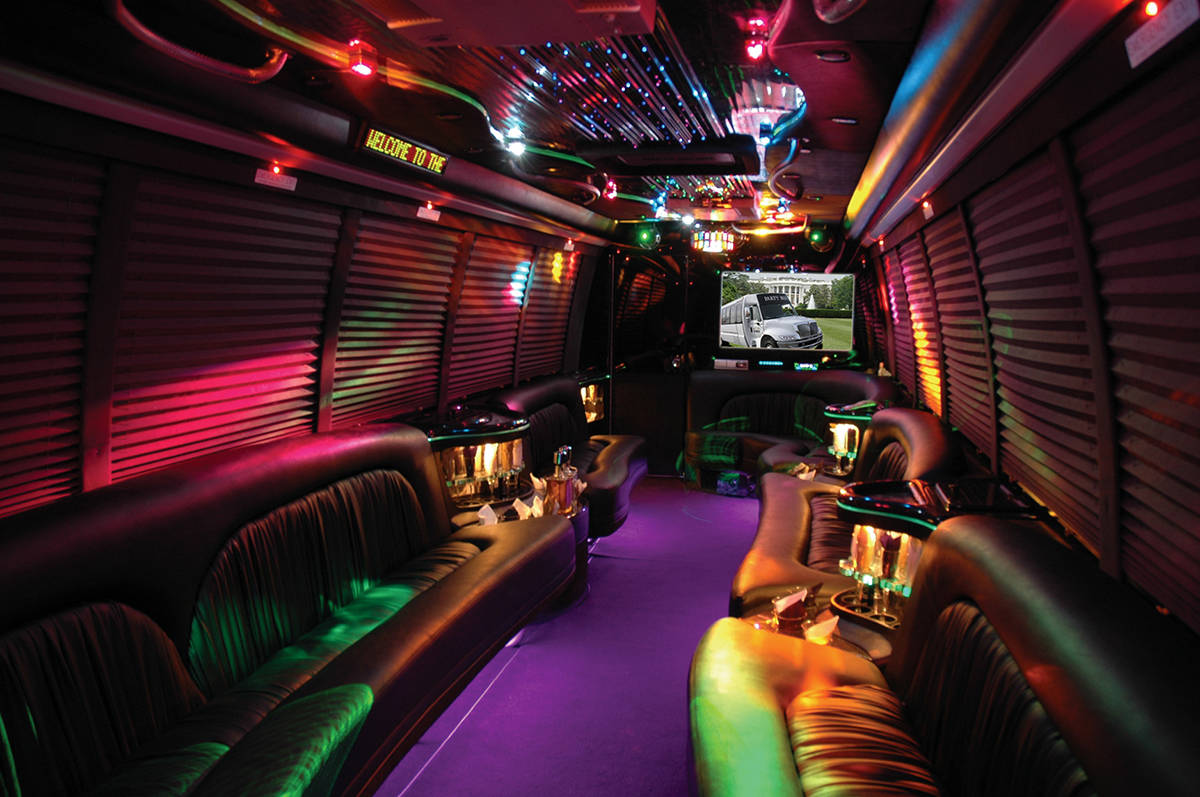 Inside a party bus (Wikimedia Commons)