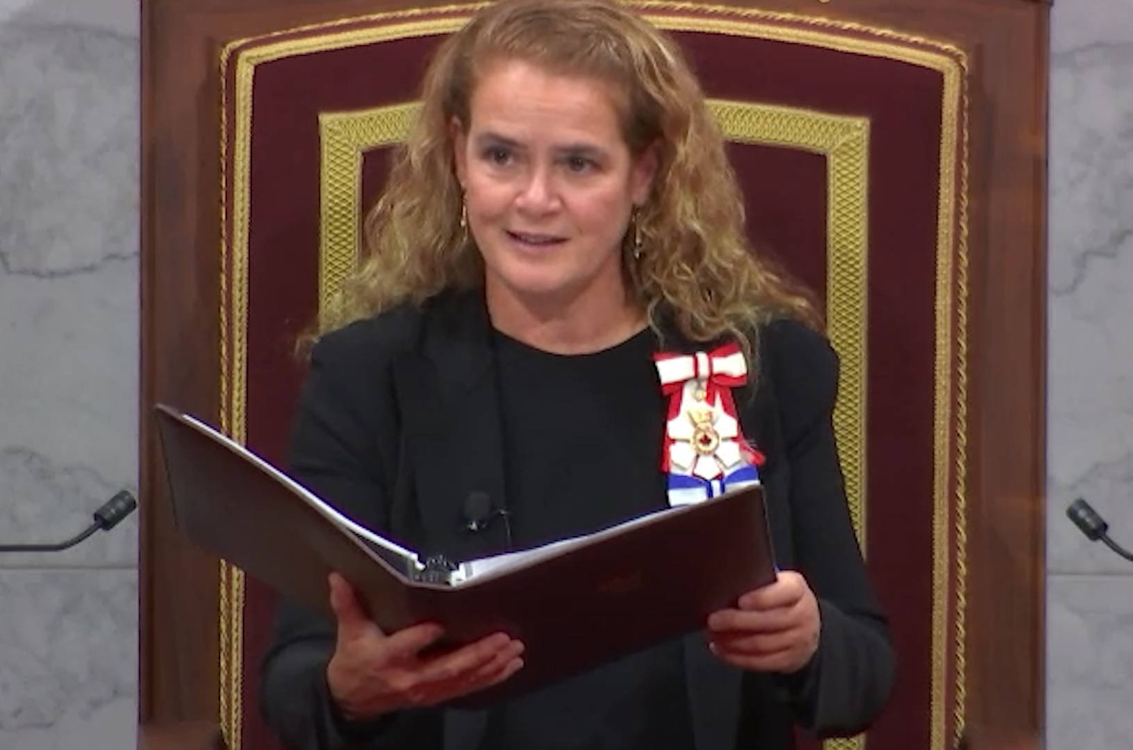 Gov. Gen. Julie Payette reads the speech from the throne in Ottawa on Dec. 5, 2019. (The Canadian Press)