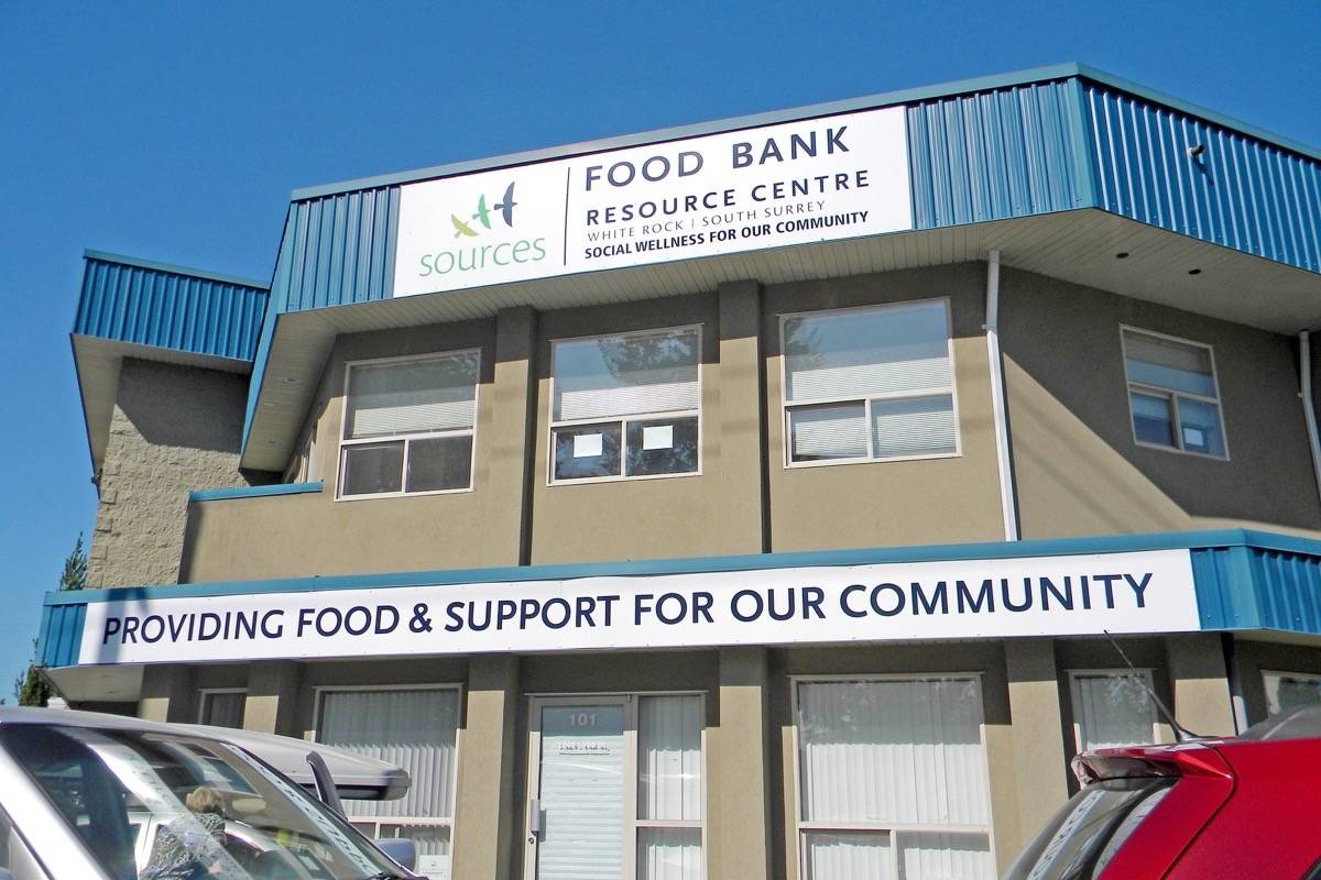 Sources White Rock/South Surrey Food Bank is one of its more visible services in the community. The agency will receive nearly $192,000 in provincial funding to help promote food security in the Lower Mainland. (File photo)