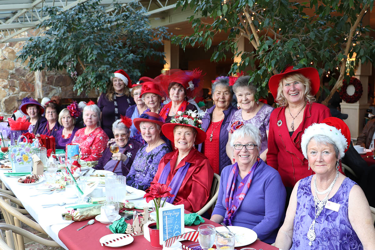 VIDEO: Aldergrove chapter of Red Hat Society celebrates Christmas at Newlands