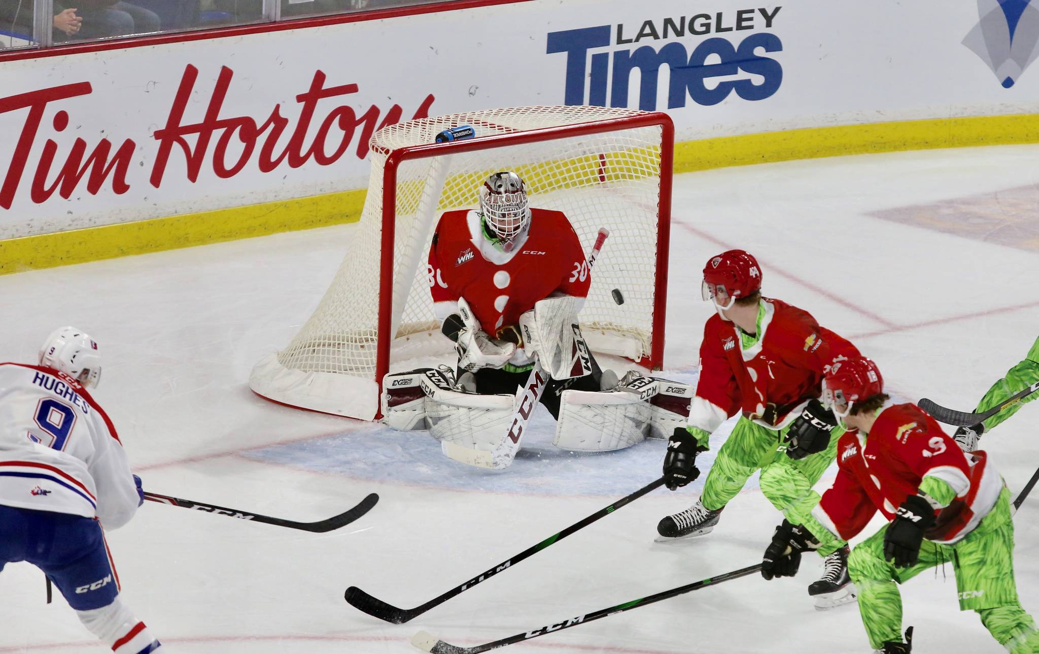 Vancouver Giants fell 2-1 to the Spokane Chiefs Friday night (Dec. 6) at Langley Events Centre. (Rik Fedyck/Special to Langley Advance Times)