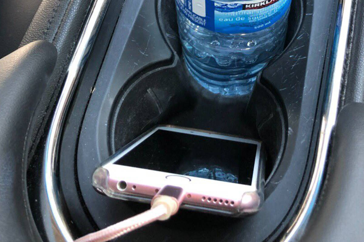 Randi Kramer disputed a distracted driving ticket she received for having her phone charging in her car's cupholder while driving in Vancouver on Oct. 1, 2019. (Trevor Kramer)