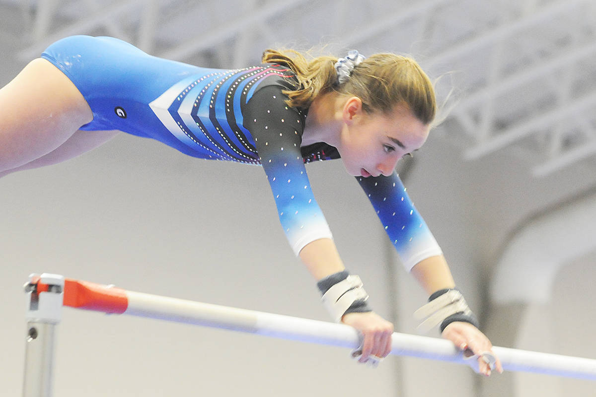 VIDEO: First major gymnastics meet of the season, is for some, a quest for a B.C. Games berth