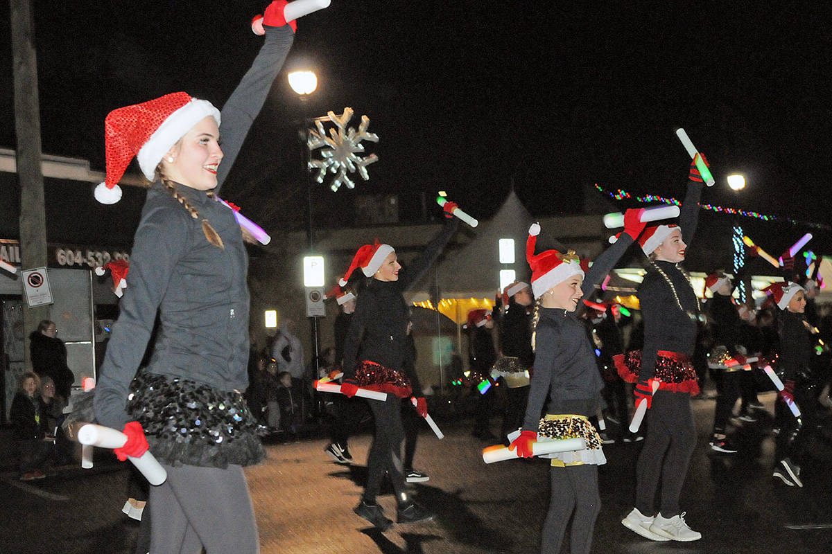 Dancers provided holiday cheer at the the annual Magic of Christmas parade in Langley City on Saturday night. (Dan Ferguson/Langley Advance Times)