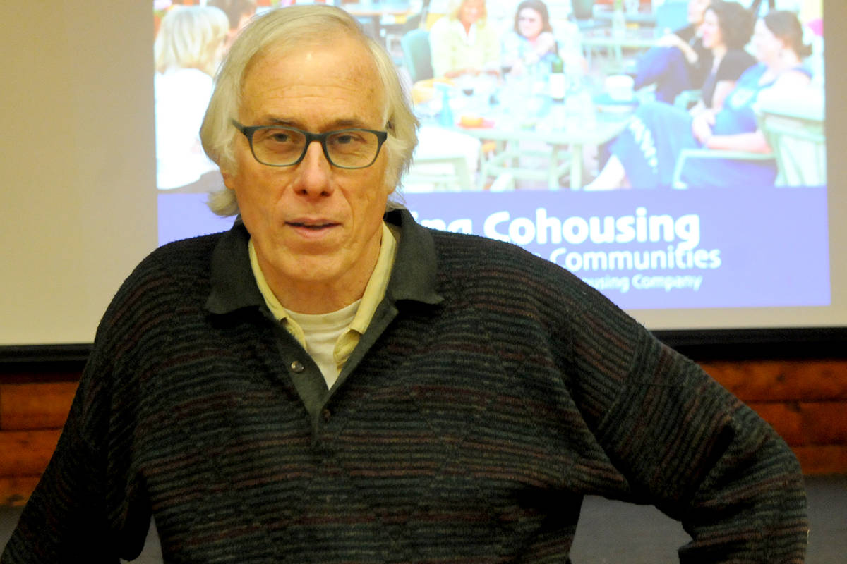 "Charles ""Chuck"" Durrett, an American architect and author who is credited with coining the term ""co-housing"" gave a talk in Langley on Sunday through Compass Cohousing. (Ryan Uytdewilligen/Langley Advance Times)"