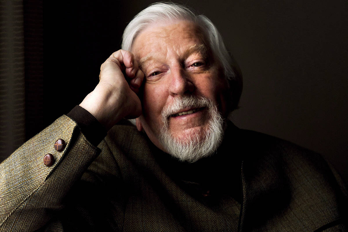 """Caroll Spinney, puppeteer behind Big Bird and Oscar the grouch poses for a photograph about the doc """"I Am Big Bird…"""", in Toronto on Monday, April 28, 2014. Spinney, who gave Big Bird his warmth and Oscar the Grouch his growl for nearly 50 years on """"Sesame Street,"""" died Sunday at the age of 85 at his home in Connecticut, according to the Sesame Workshop. THE CANADIAN PRESS/Nathan Denette"""