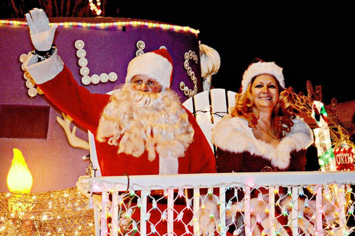 Aldergrove's annual Christmas Light-Up Parade will brighten up Fraser Highway downtown with festive floats on Saturday, Dec. 14 starting at 6 p.m., including an Elks Santa float which has become a parade staple. (Aldergrove Star files)