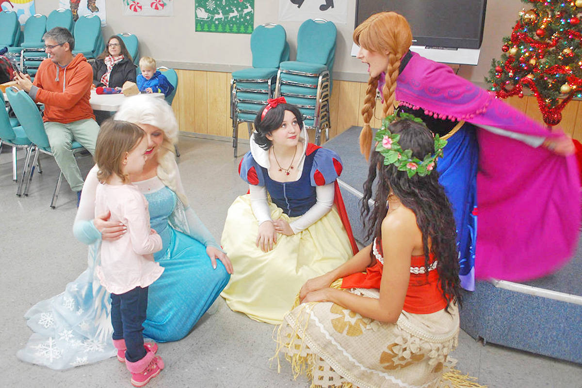 There were Princesses aplenty along with Santa and Mrs. Claus, ballon animals and face painting at last year's Elks kid's Christmas Party. (Aldergrove Star files)