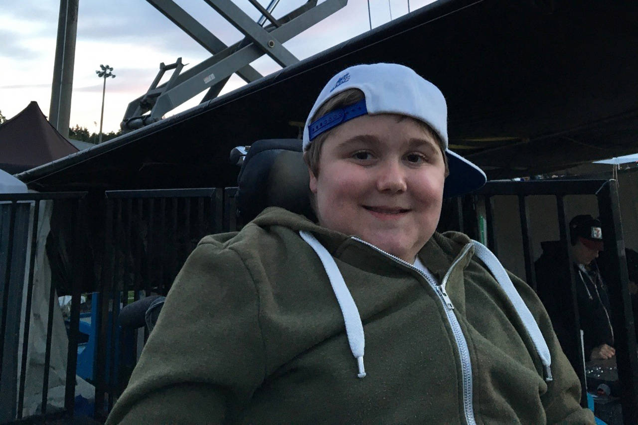 Gabriel Pollard,16, died after a transportation lift used by the Disabled Sailing Association of Victoria broke, dropping him to the ground and into the water. The provincial government has filed a civil claim for compensation of Pollard's health costs. (GoFundMe)
