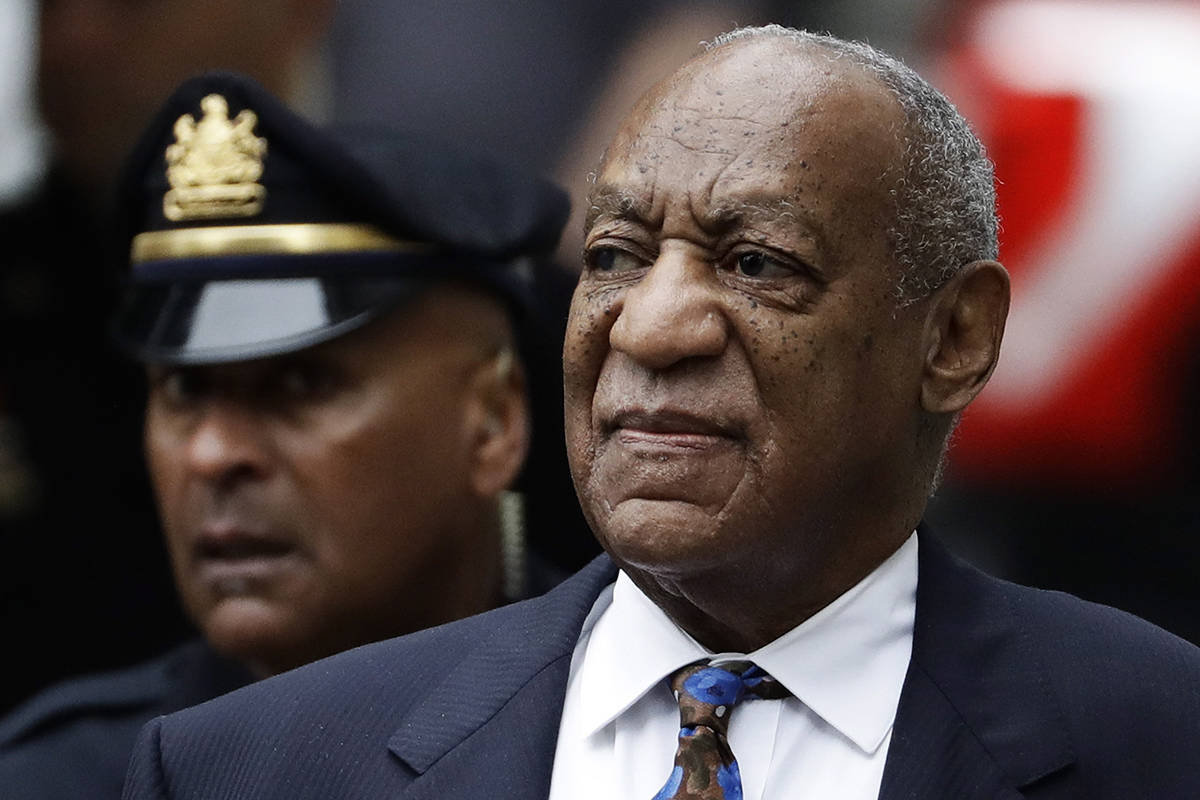 FILE - In this Sept. 24, 2018 file photo Bill Cosby arrives for his sentencing hearing at the Montgomery County Courthouse in Norristown, Pa. A Pennsylvania appeals court has rejected Cosby's bid to overturn his sexual assault conviction. The ruling Monday, Dec. 10, 2019, was being closely watched as Cosby was the first celebrity tried and convicted in the #MeToo era. Defense lawyers say the trial judge improperly allowed five other accusers to testify. (AP Photo/Matt Slocum, File)