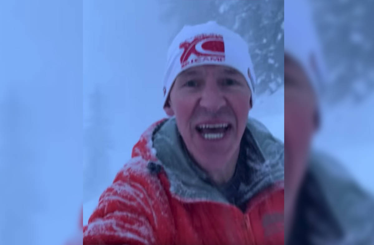 Bryon Howard posted a video capturing the moments he narrowly escaped an avalanche while running in Lake Louise on Friday, Dec. 6, 2019. (YouTube screenshot)