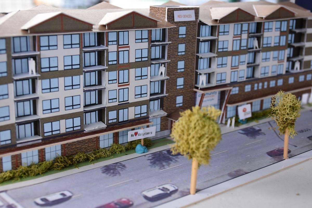 Plans for a new affordable rental housing development in Maple Ridge. (Black Press Media files)