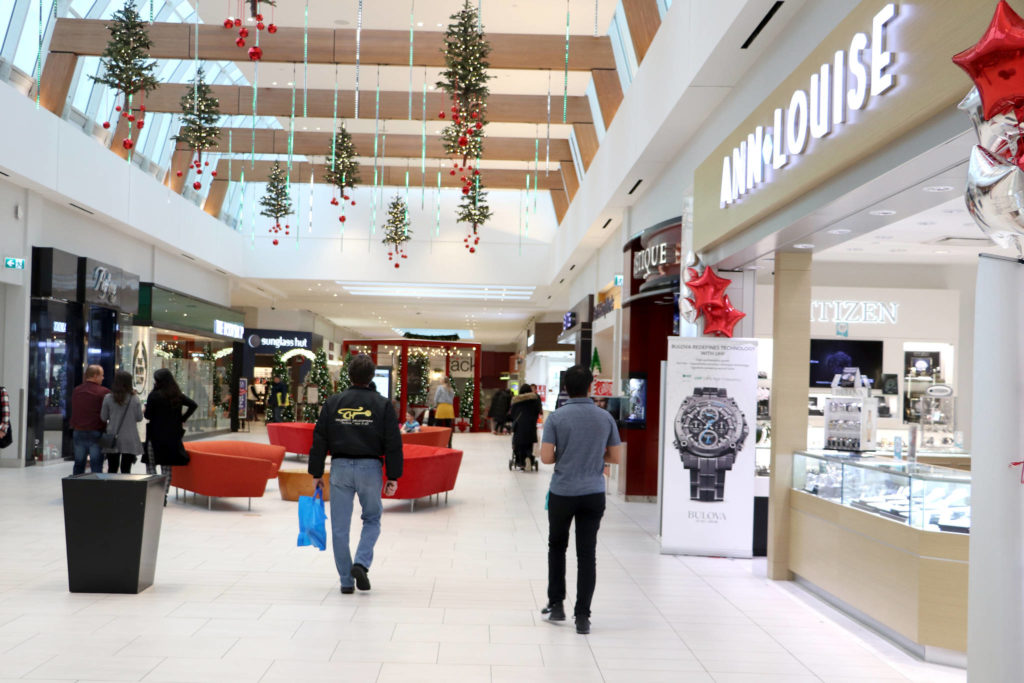 Willowbrook Shopping Centre is still expected to one of the most popular last-minute shopping destinations in Langley, as the countdown to Christmas continues. (Joti Grewal/Langley Advance Times)