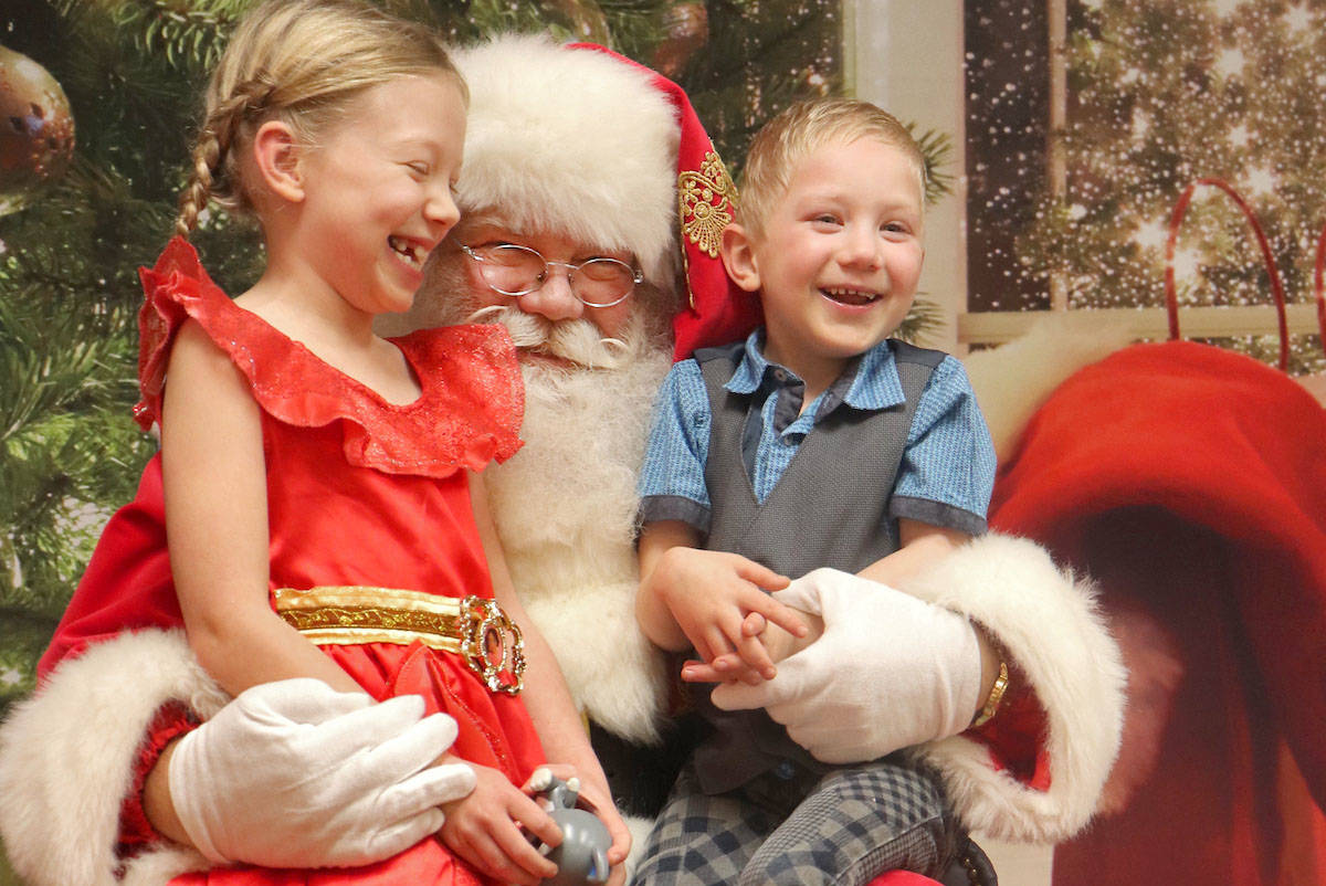 Families are encouraged to bring their own cameras and phones to capture the Selfies with Santa experience, which is accepting perishable food bank donations. (Sarah Grochowski photo)