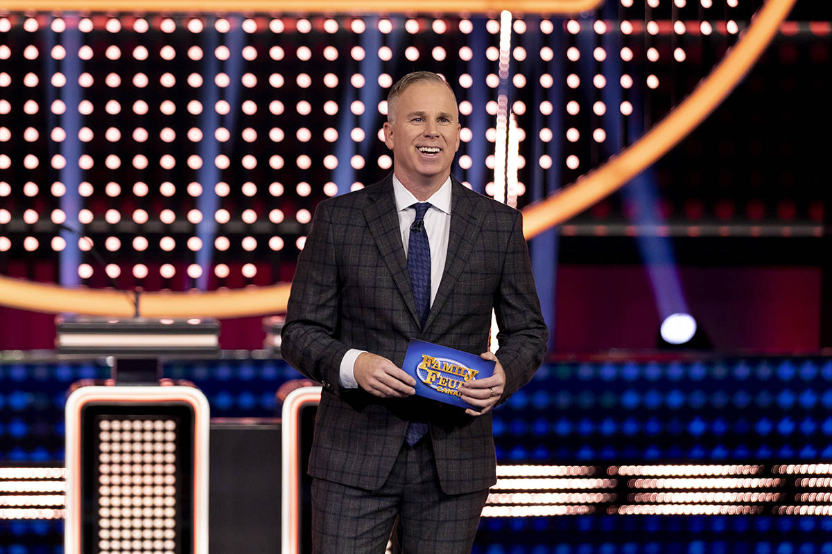 """Gerry Dee hosts the new """"Family Feud Canada"""" game show on CBC. (Photo: Joanna Bell/CBC)"""