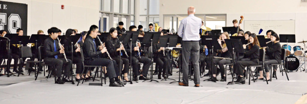 The school opened at the start of the school year but the official ceremony was held Thursday morning and featured students musicians. (Heather Colpitts/Langley Advance Times)