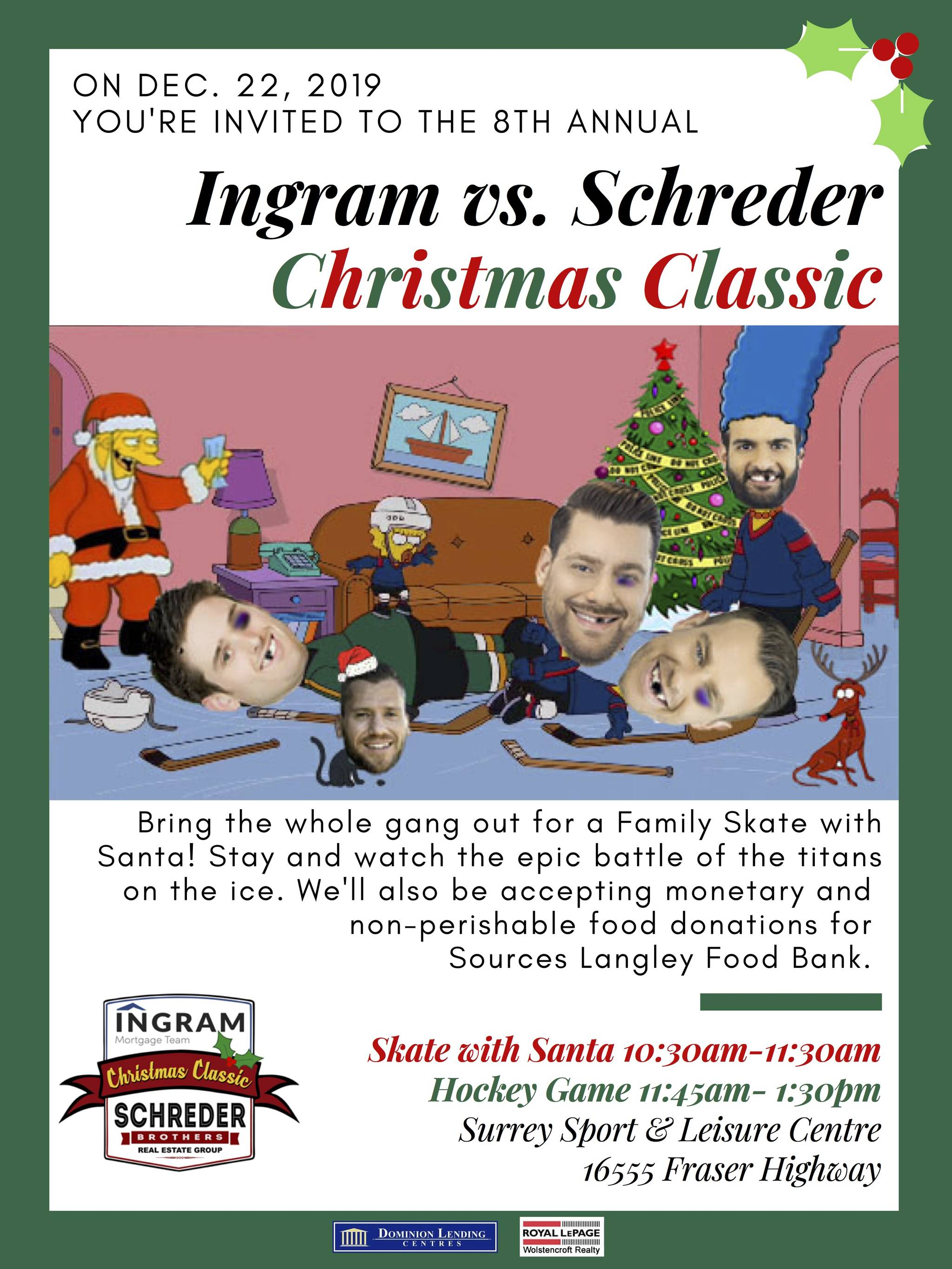 CALENDAR: Skate with Santa charity event and list of all public skates in Langley