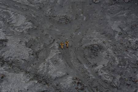 This photo released by the New Zealand Defence Force shows an operation to recover bodies from White Island after a volcanic eruption in Whakatane, New Zealand, Friday, Dec. 13, 2019. (New Zealand Defence Force via AP)