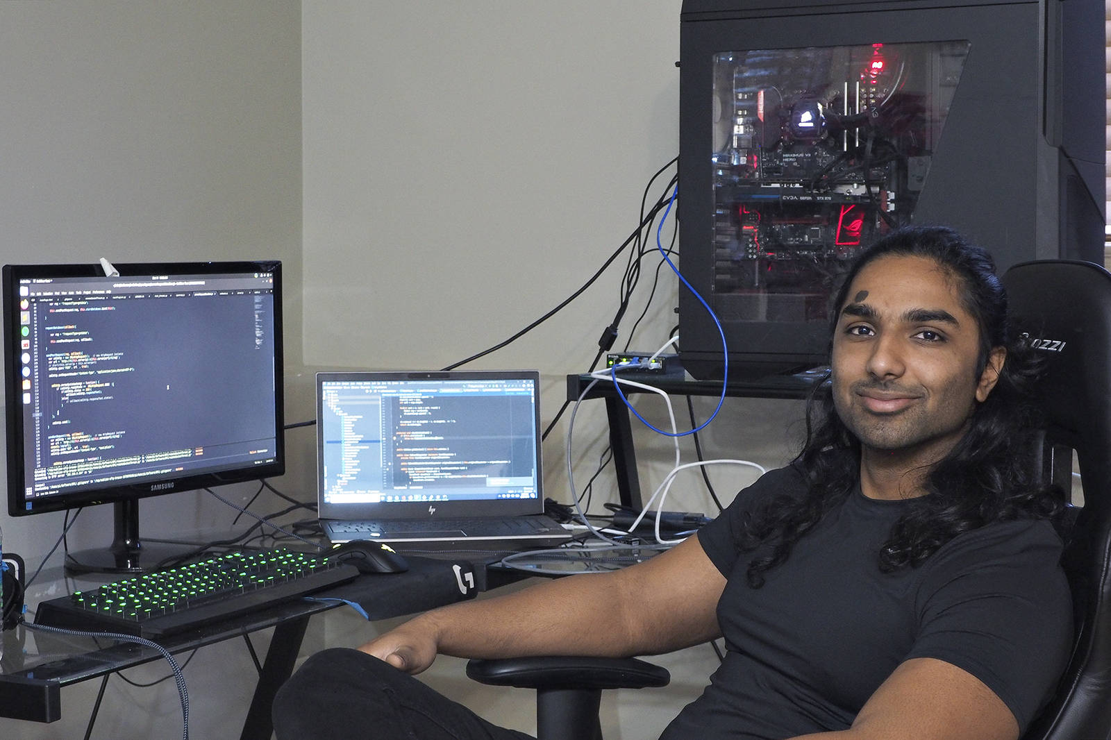 Ahmad Naveed, a mechanical engineer from Nanaimo, has created Nanaimo Thief Tracking, an online application that allows anyone to plot locations and share details about thefts. (CHRIS BUSH/The News Bulletin)