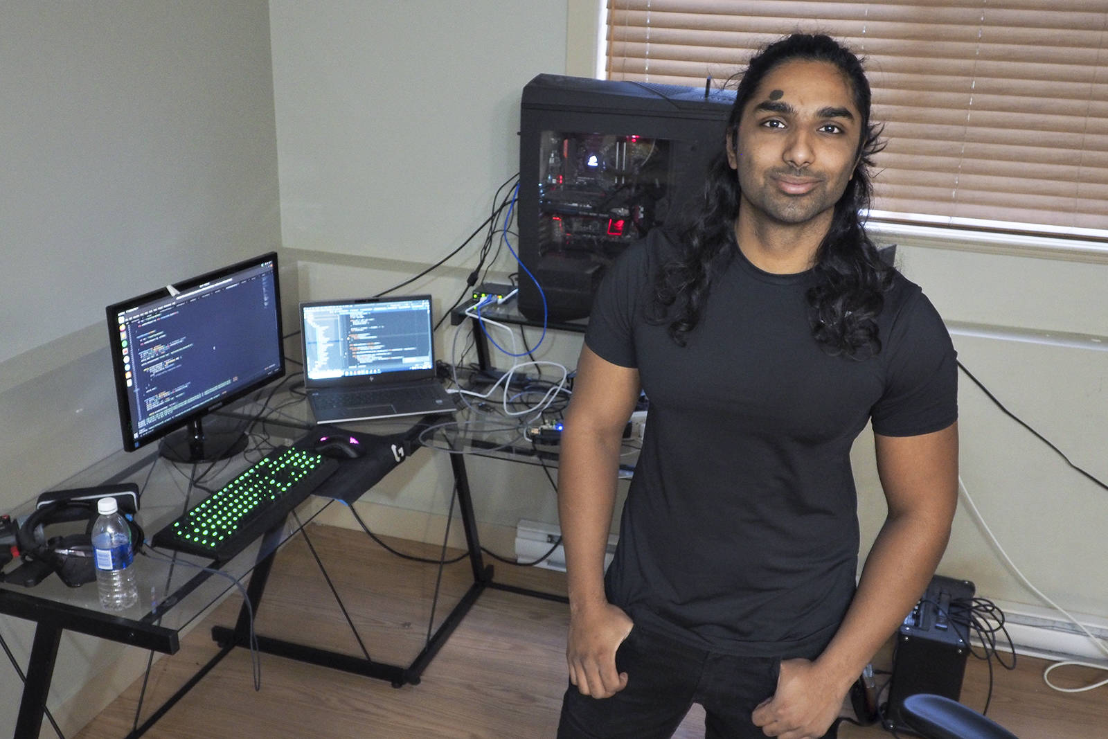 Ahmad Naveed, a mechanical engineer from Nanaimo, has created Nanaimo Thief Tracking, an online application that allows anyone to plot locations and share details about thefts. So far, the application has helped a stolen patio heater be returned to its owner. (CHRIS BUSH/The News Bulletin)