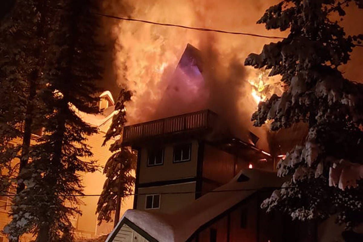 A fire in Big White in the early hours of Saturday, Dec. 14, 2019. (Facebook)