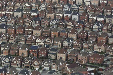 An aerial view of houses in Oshawa, Ont. THE CANADIAN PRESS/Lars Hagberg