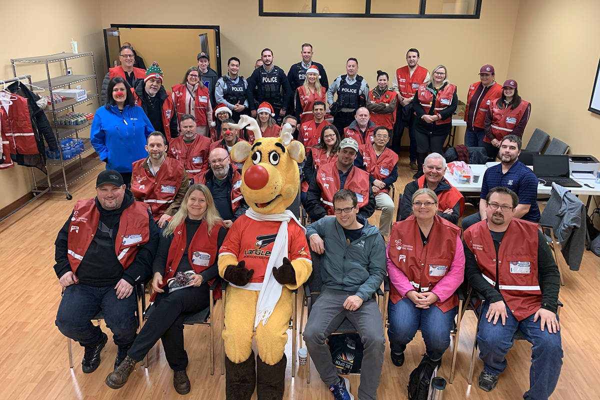 Operation Red Nose Surrey Langley had 15 volunteer teams on Friday, Dec. 13 and 10 on Saturday, Dec. 14, giving 110 safe rides home. (Michelle Cowan/Special to the Langley Advance Times)