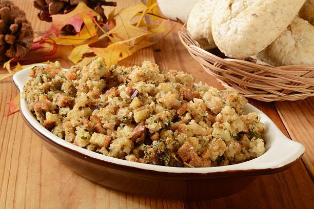A traditional stuffing recipe might include celery, onion, cranberries and herbs like sage or parsley. (The Canadian Press)