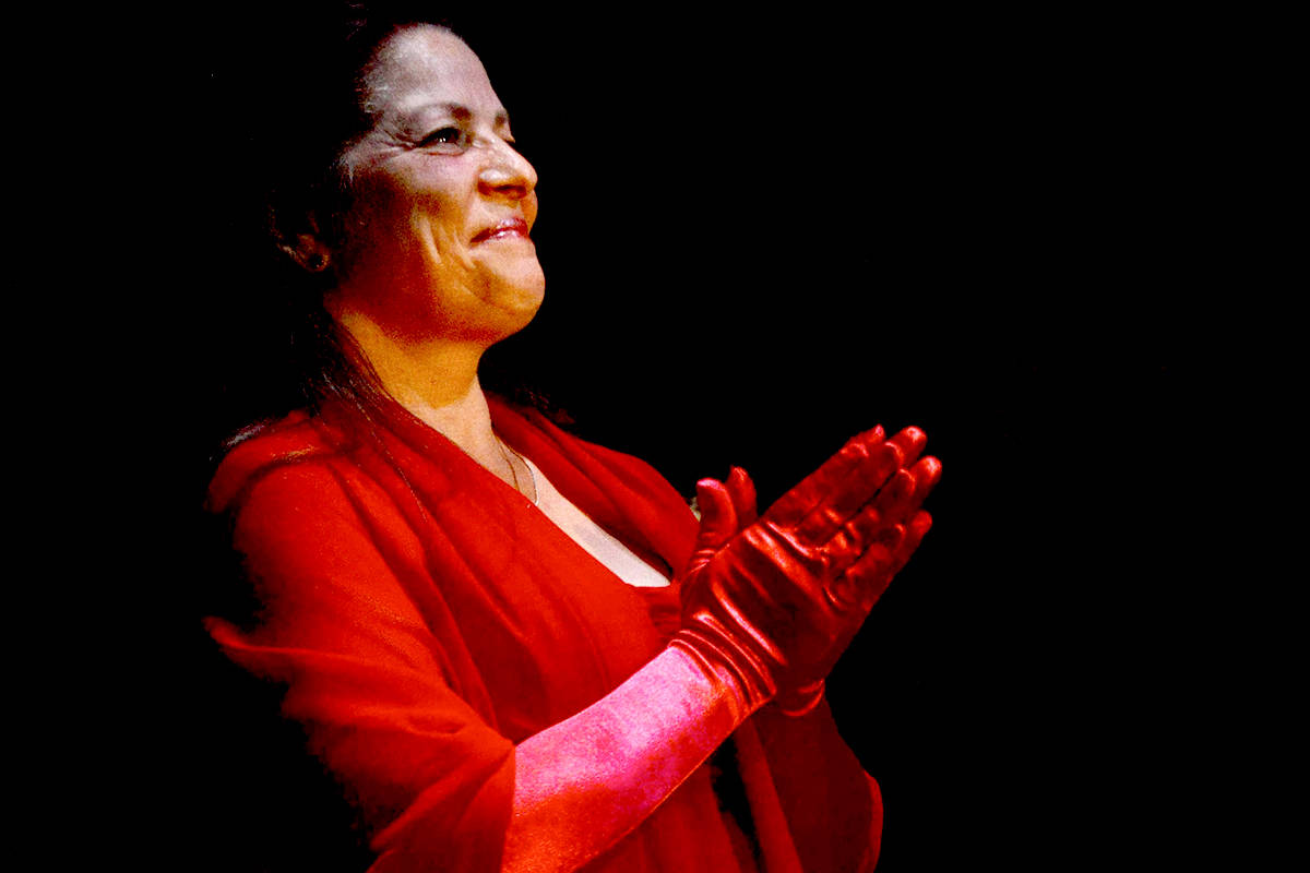 Jayleen Stonehouse performs a tribute to Dinah Washington for Jazz in the Forts final show of the year, Dec. 31. (Fort Langley Jazz and Arts Festival/Special to the Langley Advance Times)