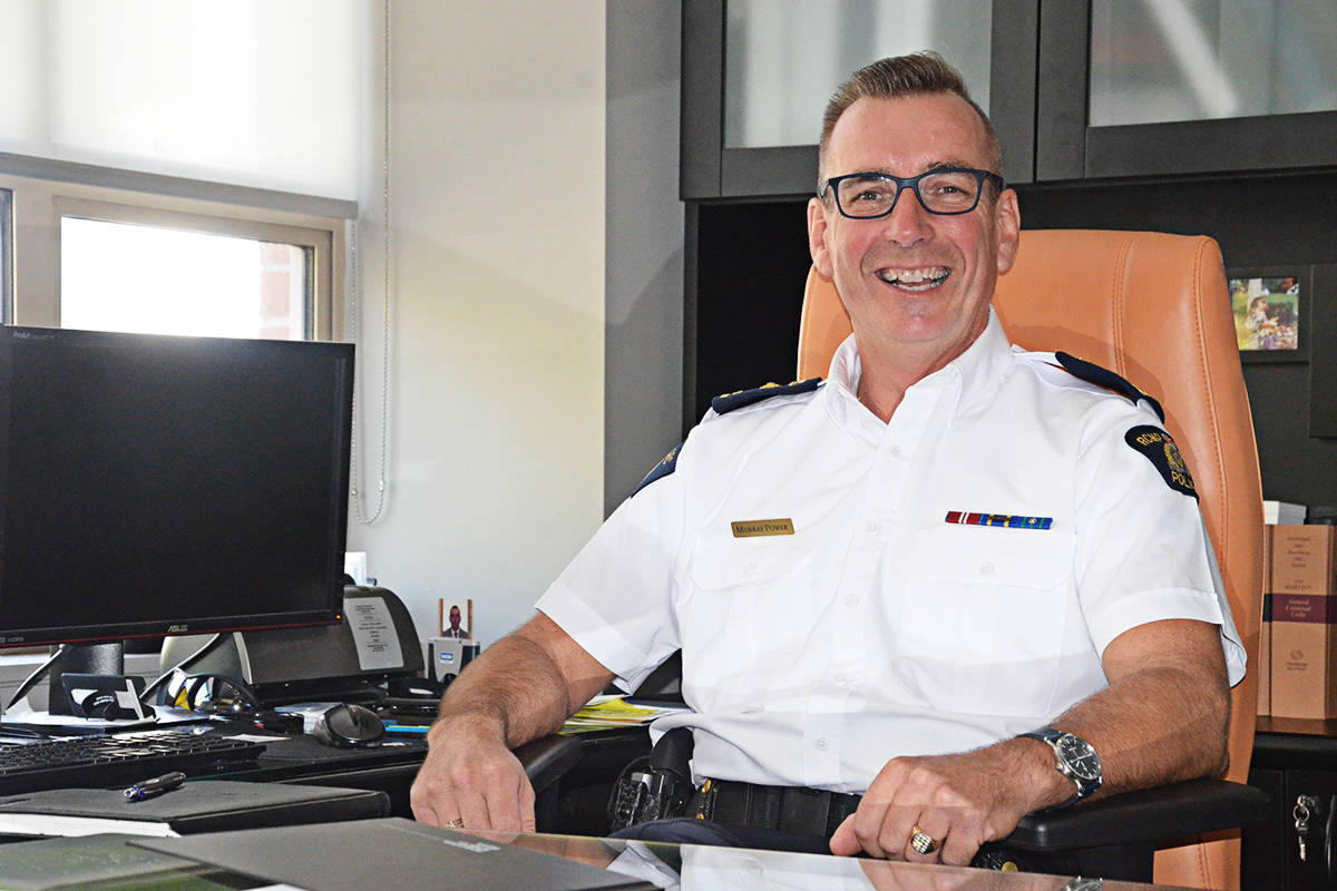 Supt. Murray Power, officer in charge of the Langley RCMP detachment. (Matthew Claxton/Langley Advance Times)