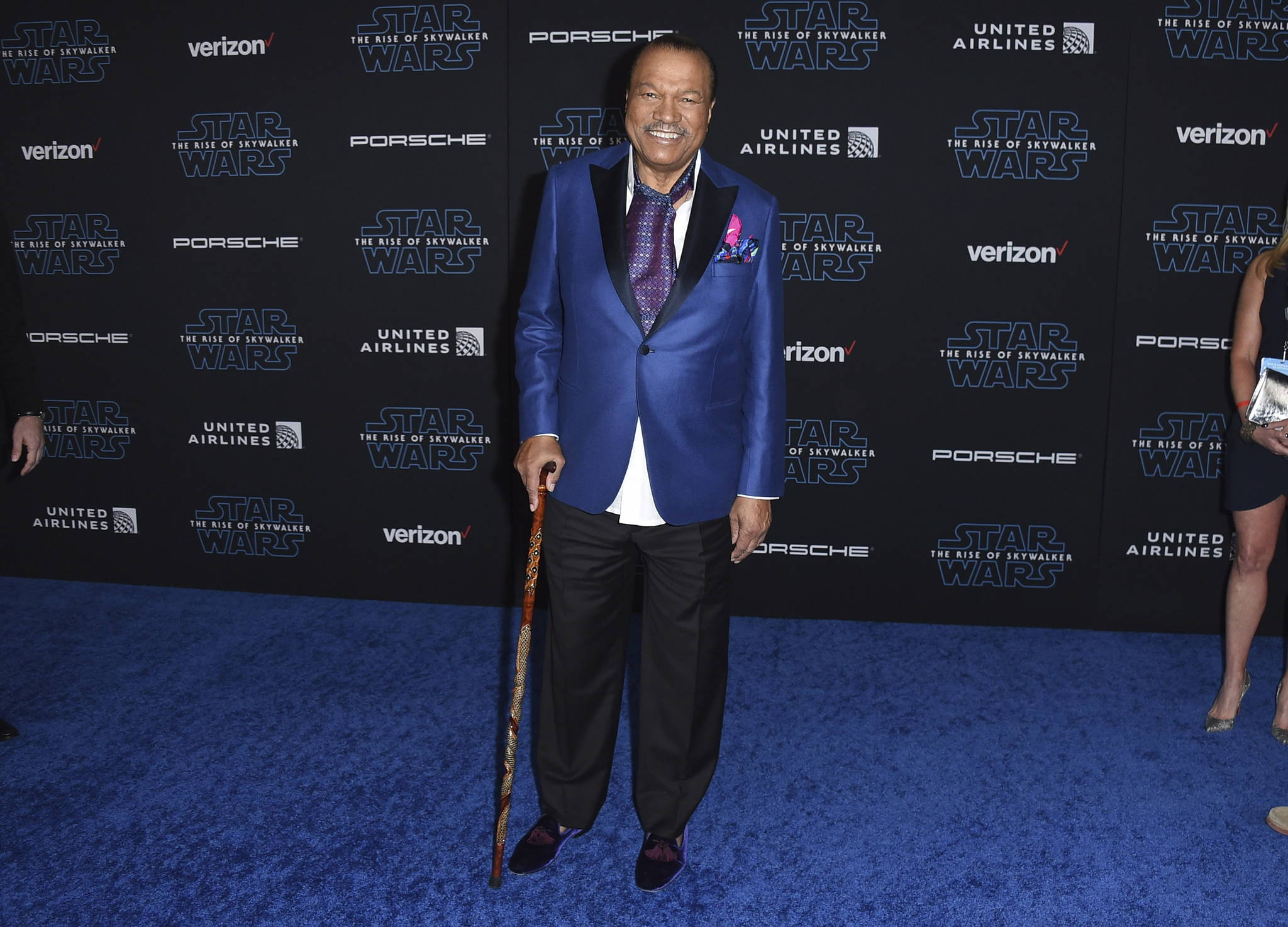"""Billy Dee Williams arrives at the world premiere of """"Star Wars: The Rise of Skywalker"""" on Monday, Dec. 16, 2019, in Los Angeles (Jordan Strauss/Invision/AP)"""