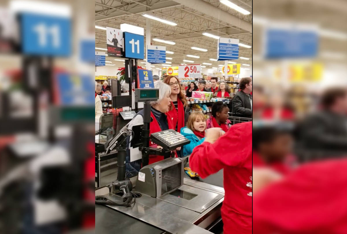 VIDEO: Festive flashmob breaks out at Okanagan Superstore