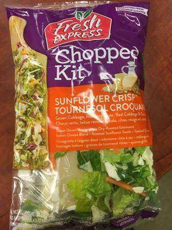 A Fresh Express salad kit is shown in a handout photo. THE CANADIAN PRESS/HO-Canadian Food Inspection Agency
