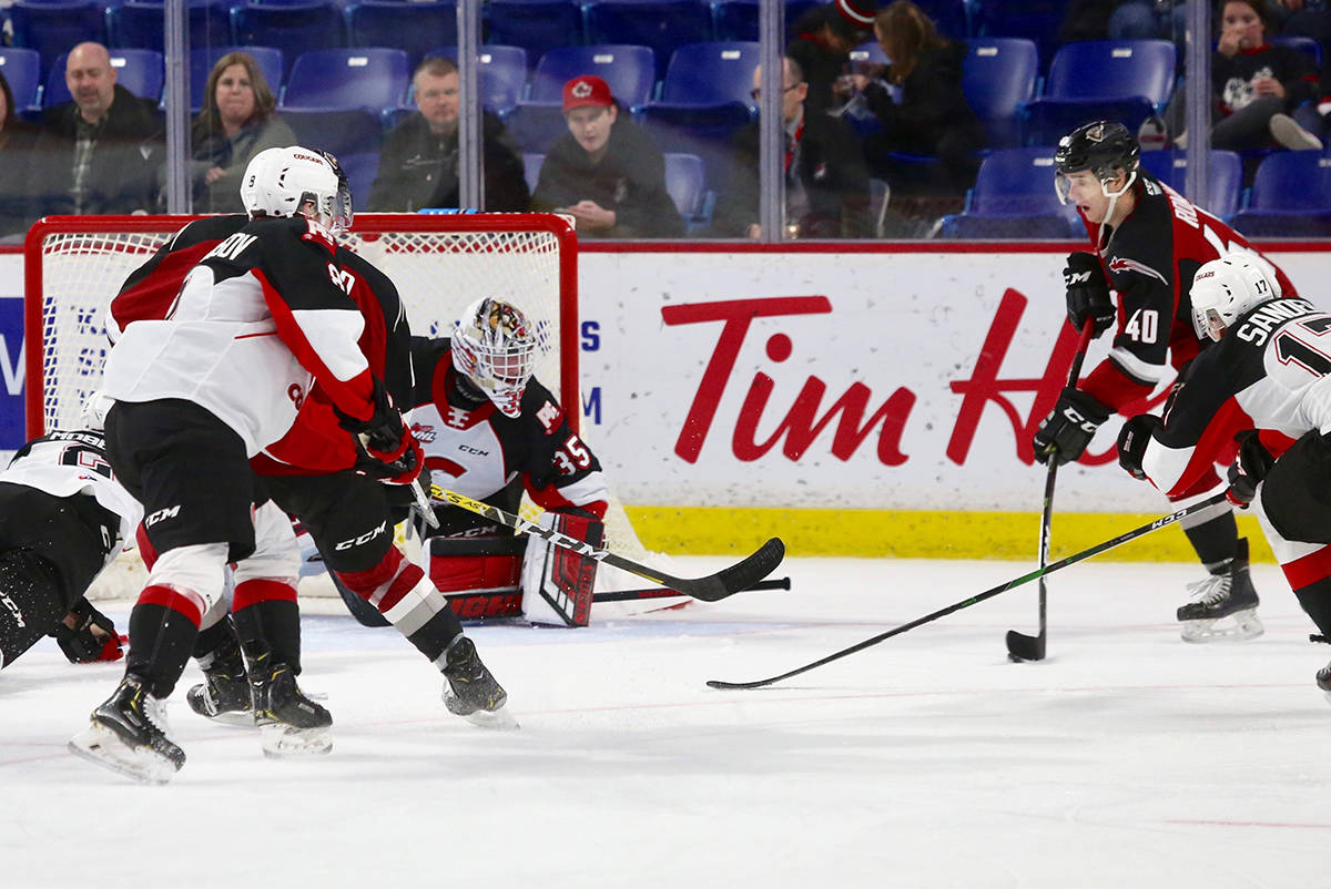 Tuesday night (Dec. 17) at the LEC the Vancouver Giants (14-15-1-1) dropped a 3-0 decision to the Prince George Cougars (8-20-1-3). (Rik Fedyck/Vancouver Giants)