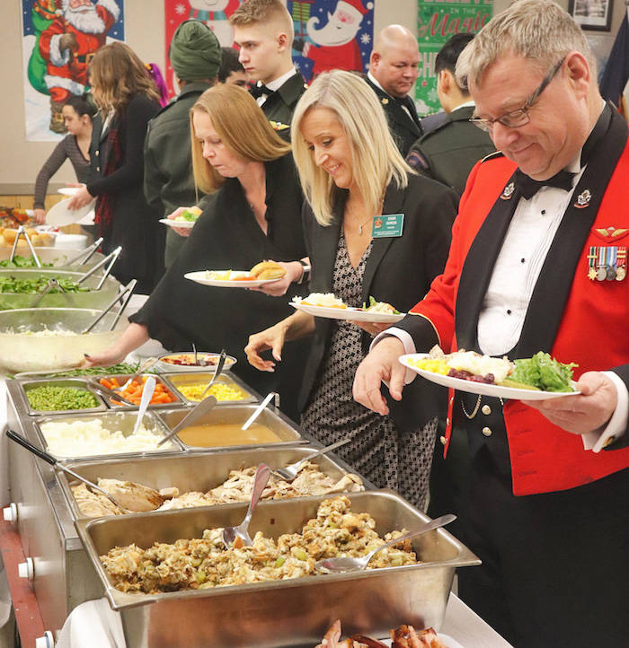 Aldergrove army cadets relive a 'soldiers Christmas dinner'