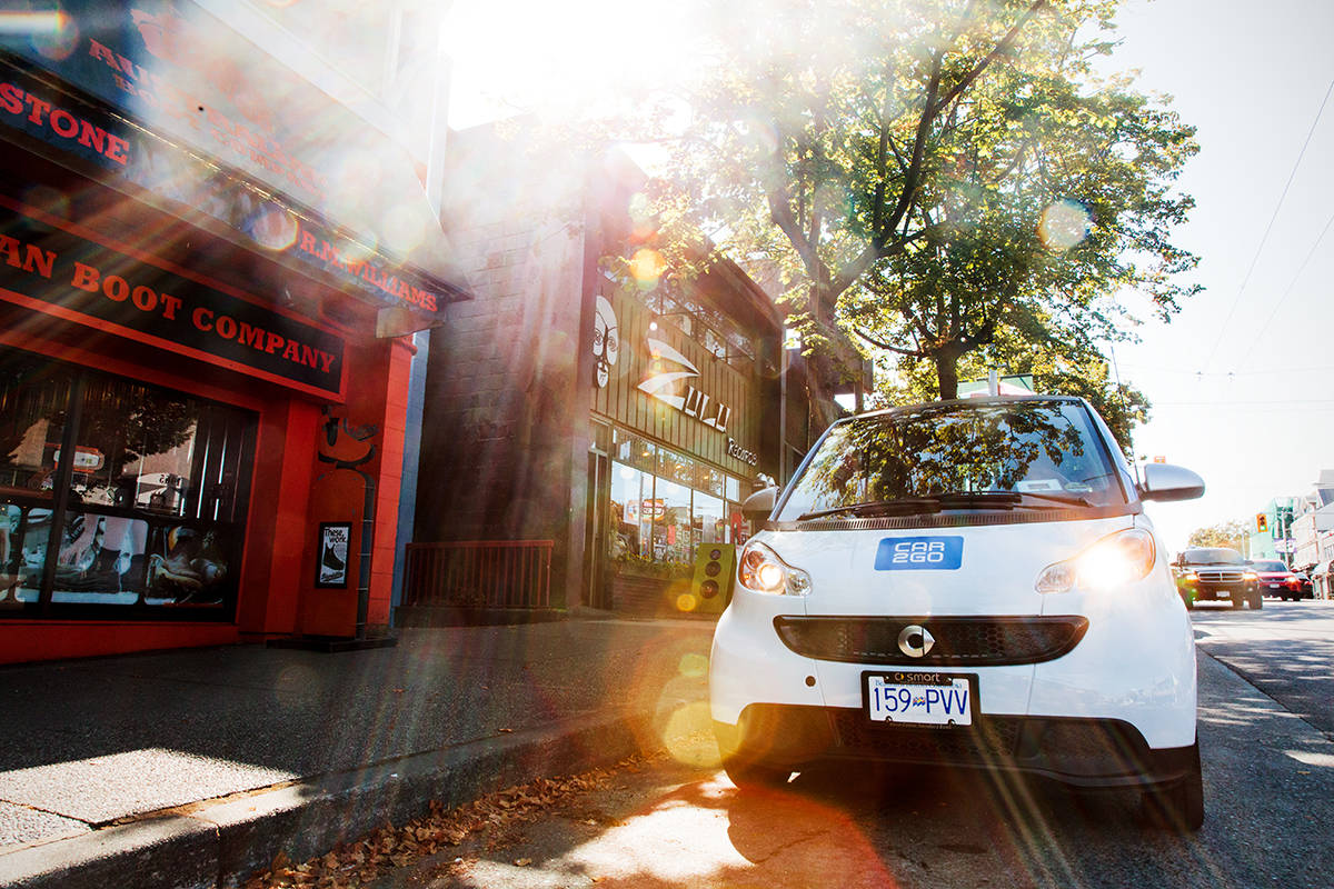 Companies like car2go offer car -haring services where members can rent vehicles by the minute, hour or day. (Submitted)