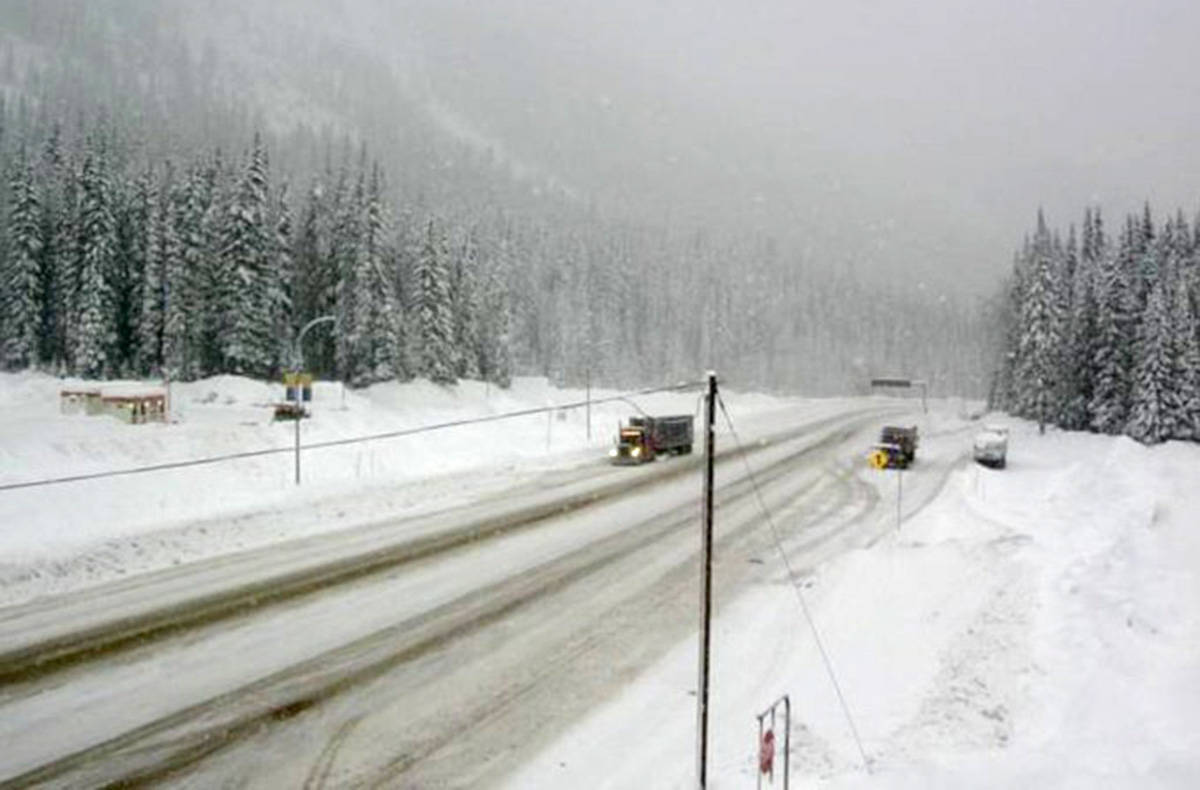 Rogers Pass on Dec. 19, 2019. (DriveBC photo)