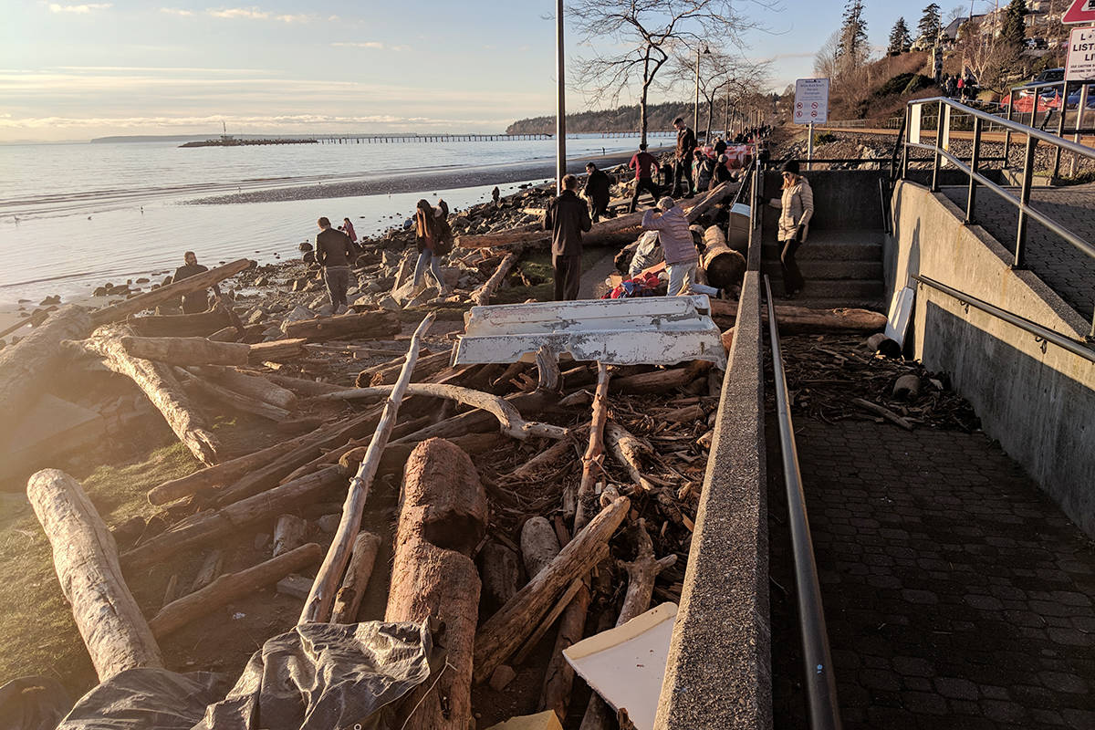East Beach sustained significant damage after a violent windstorm Dec. 20, 2018. (Aaron Hinks file photo)