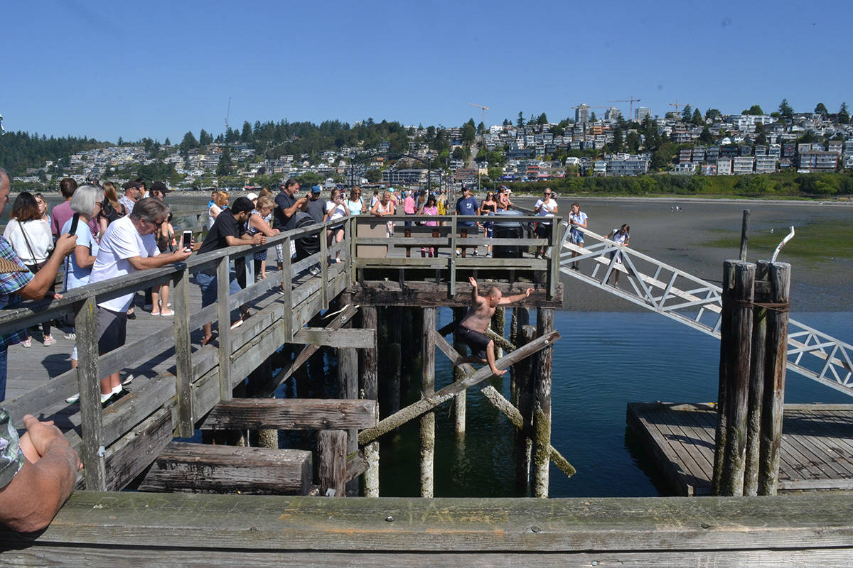 Hundreds of people gathered at the White Rock Pier to celebrate the opening of the structure. (Aaron Hinks file photos)