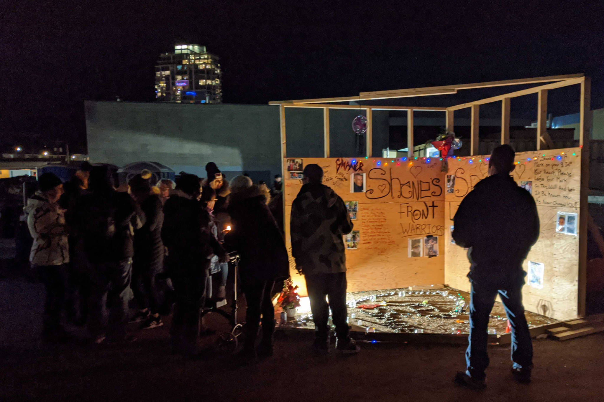 'I'm so angry I can't even cry right now' Candlelight vigil held for Kelowna man who died at homeless camp