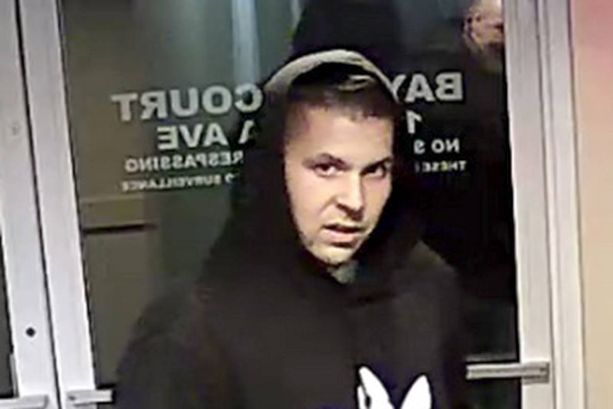 This is one of two men suspected of stealing mail from a Langley City apartment building. (Langley RCMP)