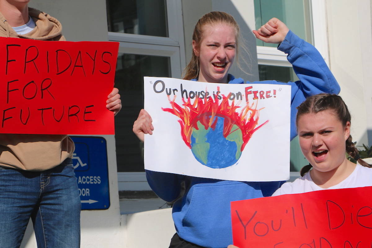 Two strikes were held on Sept. 20 and 27, as the UN emergency climate summit took place on Sept. 23. Madelaine Picard joined both the protests happening in Prince Rupert and plans to come back as often as she can for Fridays for Future. (Jenna Cocullo / The Northern View)