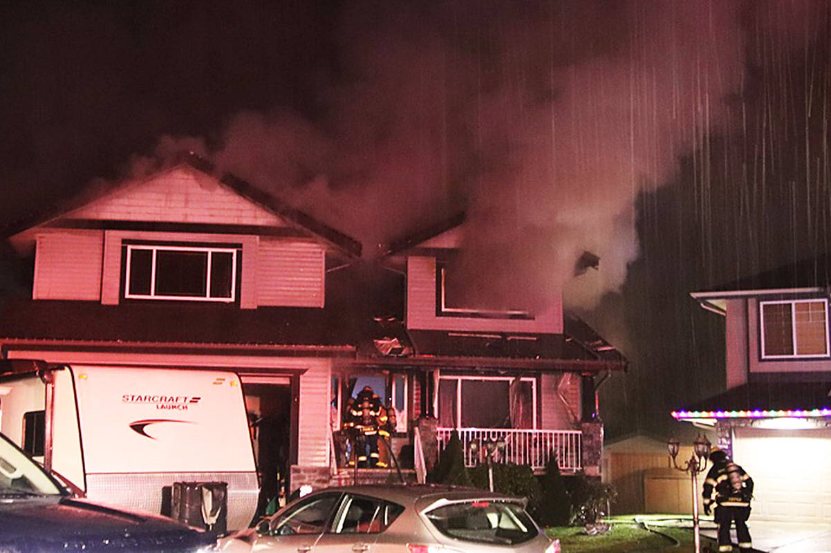 There was a house fire in Maple Ridge on Friday evening. (Shane MacKichan)