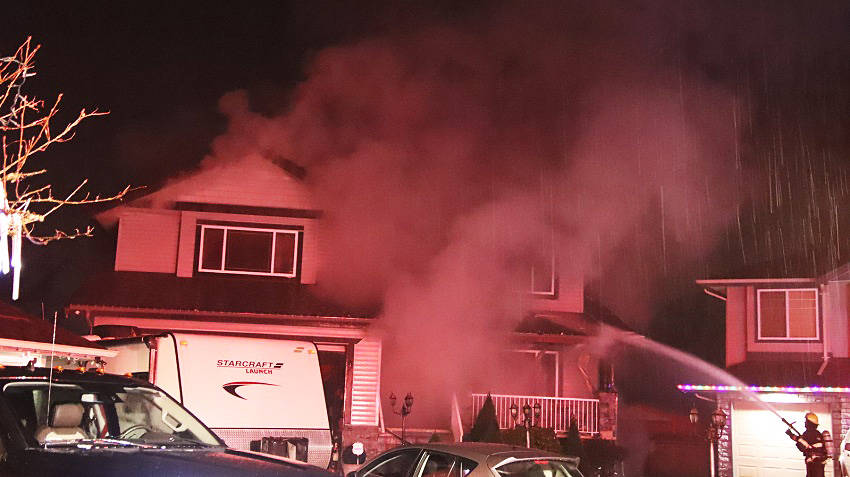 There was a house fire on Friday night at 10 a.m. on 241st Street. (Shane MacKichan)
