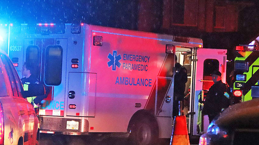 Ambulance assessed and treated people at the scene. (Shane MacKichan)