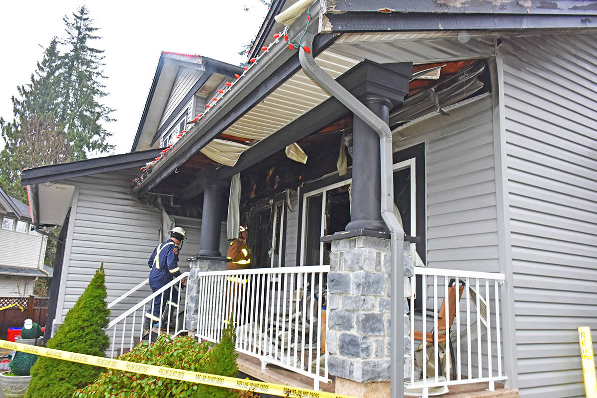 Firefighters say there is extensive damage that may limit their investigation. (Neil Corbett/THE NEWS)