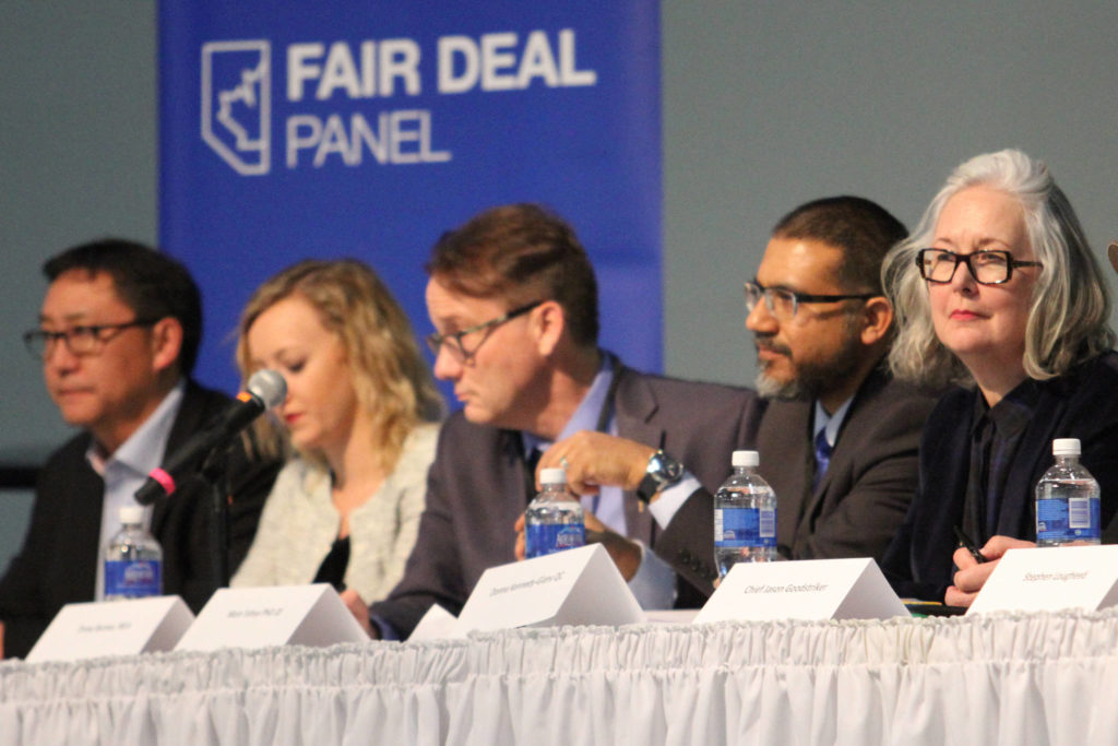 Alberta's Fair Deal Panel hosted a town hall meeting at Westerner Park in Red Deer Monday evening. Photo by SEAN MCINTOSH/Advocate staff
