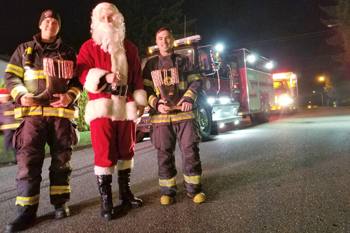 They weren't sure if it was the first candy cane run in Aldergrove, but organizers of the Sunday Dec. 22 event said it had been a long time since one had happened., (Dan Ferguson/Langley Advance Times)